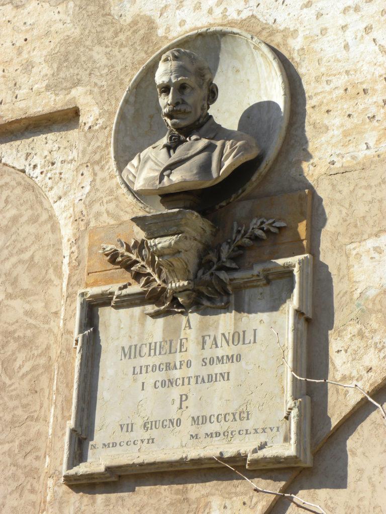 Cittadella, palazzo della loggia, busto fanoli